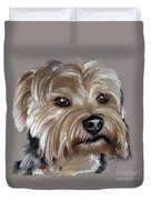 Yorkshire Terrier- Drawing Duvet Cover
