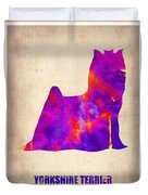 Yorkshire Terrier Poster Duvet Cover by Naxart Studio