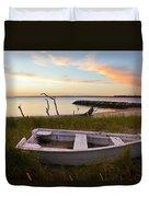 Yorktown Beach Sunset Duvet Cover
