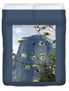 Yosemite Dogwood And Half Dome Duvet Cover