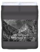 Yosemite Falls - Bw Duvet Cover
