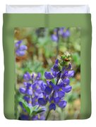 Yosemite Lupine And Ladybug Duvet Cover
