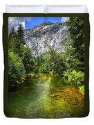 Yosemite Merced River Rafting Duvet Cover