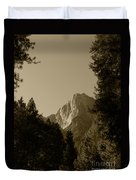 Yosemite Park Sepia Duvet Cover