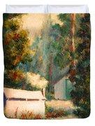 Yosemite Tent Cabins Duvet Cover