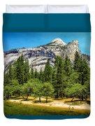 Yosemite Valley Along Yosemite River Beach Duvet Cover