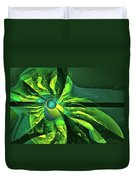 You Are Here --  Events Conspire -- Green Duvet Cover