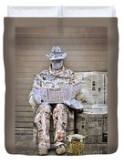 You Are What You Read Duvet Cover