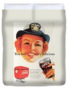 You Bet It's Delicious - Coca Cola Duvet Cover by Georgia Fowler