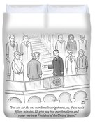 You Can Eat The One Marshmallow Right Now Duvet Cover by Paul Noth