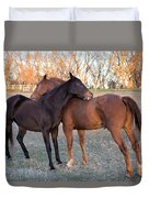 You Scratch My Back And I'll Scratch Yours Duvet Cover