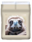 Young Baby Vulture Raptor Bird Duvet Cover