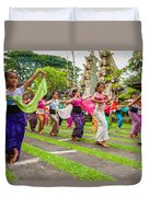 Young Bali Dancers - Indonesia Duvet Cover