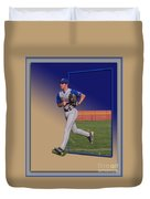 Young Baseball Athlete Duvet Cover