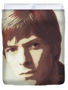 Young Bowie Pop Art Duvet Cover