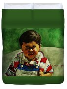 young Giovanni Duvet Cover
