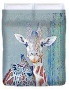 Young Giraffes Duvet Cover