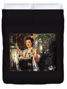 Young Japanese Lady Duvet Cover