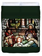 Young Jesus In The Temple Duvet Cover