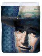 Young John Wayne Pop 2 Duvet Cover