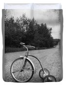 Young Kid Old Road  Duvet Cover