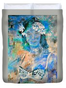 young lady in Papeete Duvet Cover