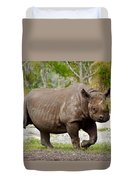 Young Rhinoceros Duvet Cover