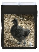 Young Silkie Strutting Duvet Cover