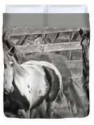 Young Stallions Duvet Cover