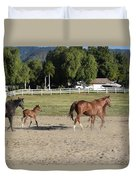Young Thoroughbrerds  Duvet Cover