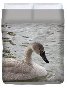 Young Trumpeter Duvet Cover