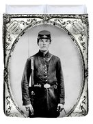 Young Union Soldier Duvet Cover