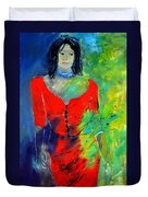 Young Woman 6431 Duvet Cover