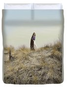 Young Woman In Cloak On A Hill Duvet Cover