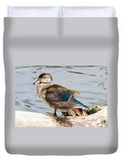Young Wood Duck Duvet Cover
