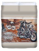 Young's Corral In Holbrook Az On Route 66 - The Mother Road Duvet Cover