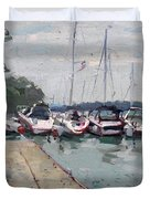 Youngstown Yachts Duvet Cover