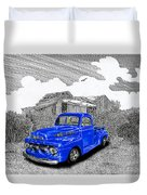 Your 1952 F 100 Pick Up In N M  Duvet Cover