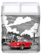 Your Ferrari In Tularosa N M  Duvet Cover