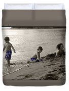Youth At The Beach Duvet Cover