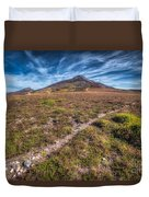 Yr Eifl Trail Duvet Cover by Adrian Evans