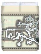 Yrchyn The Tyrant Kobold Lair Map Duvet Cover