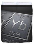 Ytterbium Chemical Element Duvet Cover