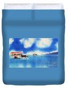Yubu Island-water Buffalo Taxi  Duvet Cover