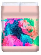 Yucca Abstract Pink Blue Green Duvet Cover