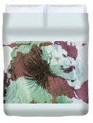 Yucca Abstract Sage And Mauve Duvet Cover