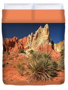 Yucca Badlands And Colors Duvet Cover