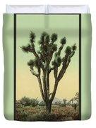 Yucca Cactus At Hesperia California Duvet Cover