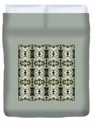 Yucca White Pattern Duvet Cover