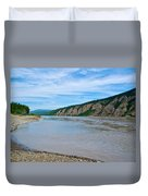 Yukon River As It Heads Northeast To The Arctic Circle-yt Duvet Cover